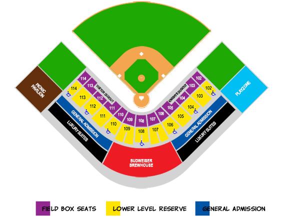 Knights Stadium Seating Chart